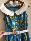 Hell Bunny Sunflower Dress S/M Pinup Rockabilly