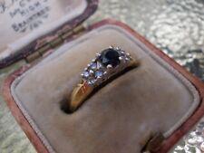 Diamond & sapphire Ladies Ring 18ct Gold