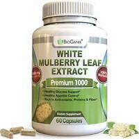 Bioganix Mulberry White Leaf Extract Premium Silkworm Filler Blood Sugar Control