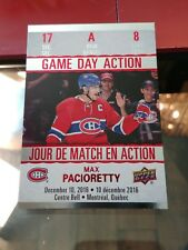 (3) 2017-18 Upper Deck Time Hortons Game Day Action Max Pacioretty ++