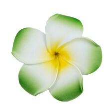 Barrette hair clip with foam frangipani for girls women - Green X0H5 N8N3 Y4I3