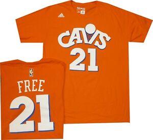Cleveland Cavaliers World B Free Adidas Orange Throwback T Shirt