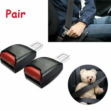 Pair Universal Auto Car Safety Seat Belt Buckle Extension Extender Clip Black