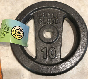 Gold's Gym Kettle Plate (1) 10 Lb New