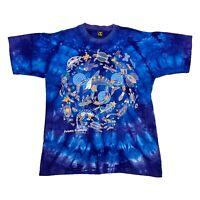 Dolphin Dreaming Australia Tie-Dye Tshirt | Vintage 90s Sea Life Art Print VTG