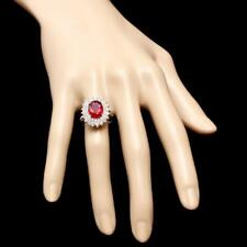 Certified 5.00cttw Ruby 1.50cttw Diamond 14KT White Gold Ring