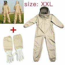 Full Body Anti Bee Suit Beekeeping Clothe Cotton Veil Hood Protectivegloves Xxl