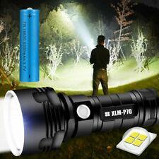 Taschenlampe Super Hell LED Taktisches Fackel Arbeitslicht Wiederaufladbare USB
