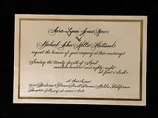 MICK FLEETWOOD WEDDING INVITATION-FLEETWOOD MAC-1988-Stevie Nicks-Buckingham