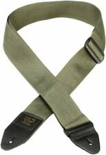 Ernie Ball 2in Polypro Guitar Strap With Leather Ends Olive 4048