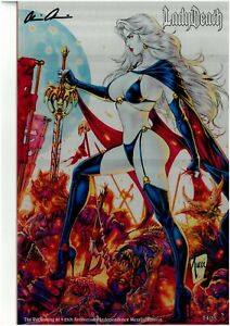 Lady Death The Reckoning 1 25 Anniversary INDEPENDENCE METALLIC NM FREE UK POST