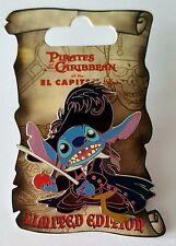 Disney Pin DSF Soda Fountain Stitch Dressed as Captain Barbossa Le 300
