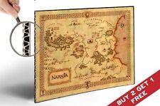 The Chronicles of Narnia Carte Poster Print 30x21cm Maison Idée Cadeau Art Déco, 4 ventilateurs