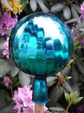 Große Rosenkugeln Glaskugeln Gartenkugeln Garten  Balkon Rosenkugel Ø15cm Türkis