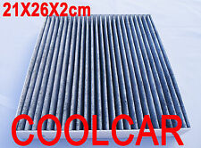 Air Active Carbon Pollen Cabin Filter For Honda Odyssey 1998-2003 2X26X21CM