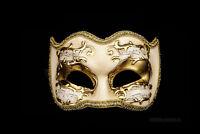 Maschera Di Venezia Colombina Joker Sinfonia Dorata Autentica Carnevale 112