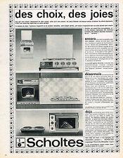PUBLICITE ADVERTISING  1964   SCHOLTES    éléctoménager  four cuisinière