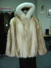 BRAND NEW RACCOON & WHITE FOX FUR JACKET COAT MEN MAN SIZE ALL