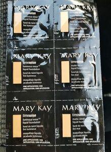 MARY KAY TIMEWISE FOUNDATION SAMPLES 3xMATTE 3xLUMINOUS  Ivory 6 Free post
