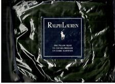 Ralph Lauren Edward Velvet  Olive Green Tailored Standard Sham New 1st Quality