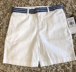 NWT Ralph Lauren Polo Boys Slim Belted Chino Short - Size 5 (MSRP $45)