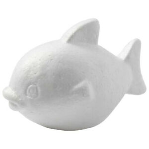 Single 13cm Polystyrene Fish Shape to Decorate