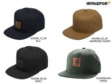 Cappello con visiera Carhartt Logo cap uomo regolabile con visiera piatta e logo