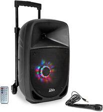 """Mobile Akku Sound Anlage """"PARTY-8LED"""" mit LEDs Mikrofon SD USB Bluetooth & Radio"""