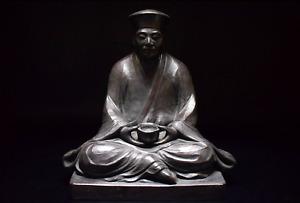 Yuzo Nishiyama Bronze Sculpture Sen no Rikyu The Greatest Tea Ceremony Master