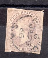 South Australia 1860 9d fine used SG34 WS9174