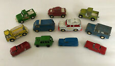 Vintage Lot of 11 Assorted Tootsie Toy Diecast Metal Cars & Trucks Collection