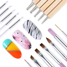 17 Pack UV Gel Brush Drawing Dotting Painting Carving Pen Pro Nail Art Tools Kit