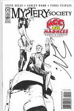 Mystery Society #1 IDW Comics Retailer Exlusive Cover Signed By Steve Niles NM