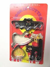 LONE TREE TOY CO. CAPERS COOKIE CUTTERS HALLOWEEN STAINLESS STEEL IN PACKAGE