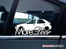 Etiqueta engomada de la puerta más-para Peugeot 306 Xsi, D-Turbo S, GTI-6, S16 16v Rebajado