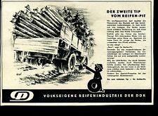 Reifen Pit--Der zweite Tip von Reifen Pit--Berlin--Werbung von 1959