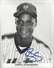 New York  Mets a Young Darryl Strawberry  autographed 8x10 posed b/w  photo