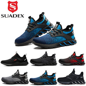 Mens Womens Safety Shoes Work Steel Toe Caps Non Slip Trainers Lightweight Boots