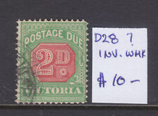 Victoria: 2d Postage Due Sg D28? Wmk Inverted Vf.Used