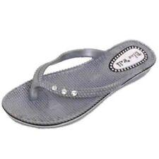 Sandalias con tiras de mujer sin marca color principal plata