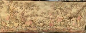 LARGE ANTIQUE NEOCLASSICAL TAPESTRY