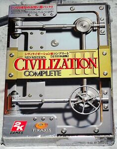Sid Meier's Civilization Complete JAPANESE Version PC CD ROM 2006 NEW SEALED