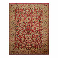 "8'11"" x 11'8"" Hand Knotted Stone Wash Peshawar Vegetable Dyes Oriental Area Rug"