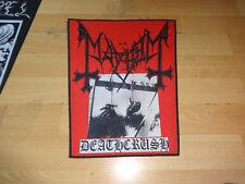 Black Metal Patch Backpatch Mayhem Morbid  Kutte Aufnäher Shape Patch NR 4