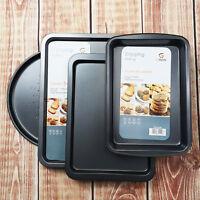 4pc Set Large Non Stick Oven Baking Roasting Crisper Dish Tray Roast Tin & Trays