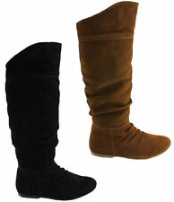Flat (0 to 1/2 in.) Knee High Boots Casual Shoes for Women
