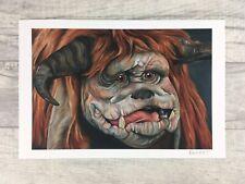 "Labyrinth Movie Ludo Friend 12"" x 8"" Oil Painting Art Print"
