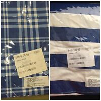 The Company Store Hudson Plaid Stripe Flat / Fitted Cotton Sheet Queen,Full,Twin