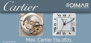 Vintage Movement Cartier - ETA 2671. Sphere White Handles Blue