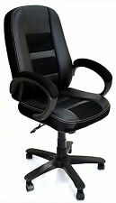 eMydeals ergonomic Ruby Black Executive, Boss, conference high back office chair